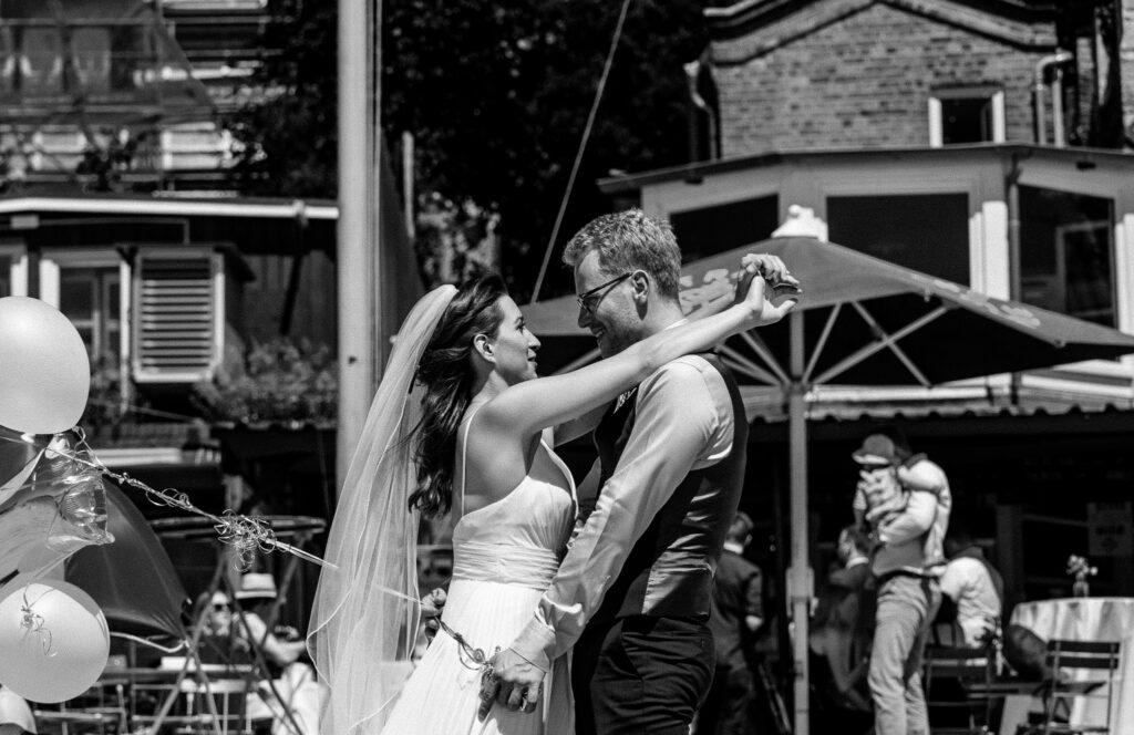 Strandperle Brautpaar Fotografie Marion Flemming